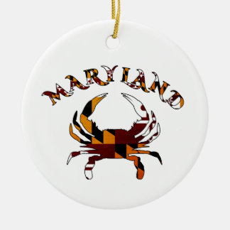 Maryland Crab Flag Christmas Ornament