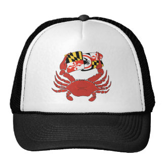 Maryland Crab Flag Design Trucker Hat
