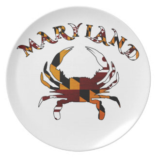 Maryland Crab Flag Plate