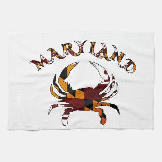 Maryland Crab Flag Tea Towel