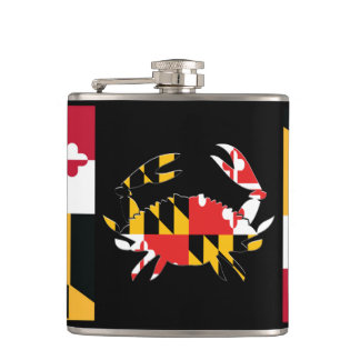 MARYLAND CRAB FLAGSK HIP FLASK
