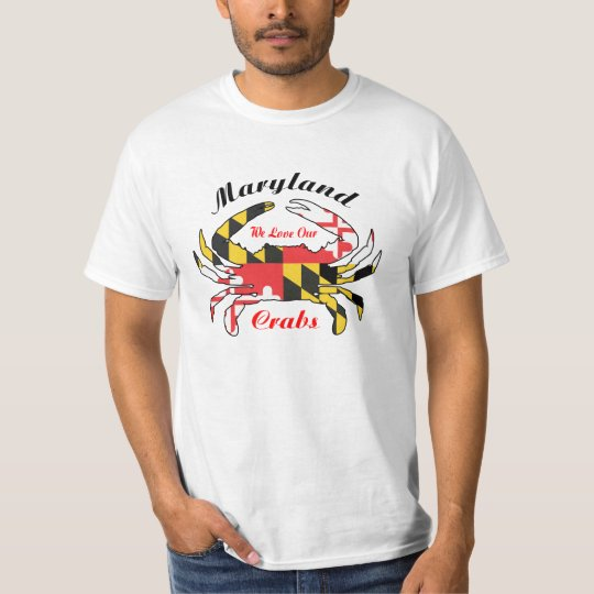 Maryland crab lover tee shirt steamed crabs flag