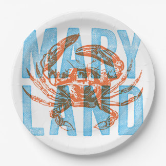 Maryland Crab Paper Plates