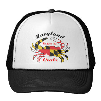 Maryland crab state flag trucker cap hat