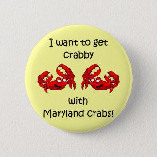 Maryland crabs 6 cm round badge