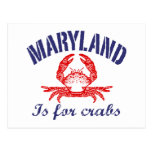Maryland  Crabs Card Post Card