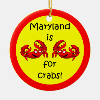 Maryland crabs christmas ornament