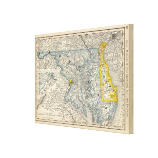 Maryland, DC, and Delaware Canvas Print