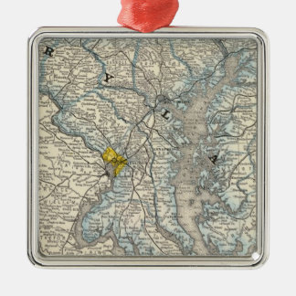 Maryland, DC, and Delaware Christmas Ornament