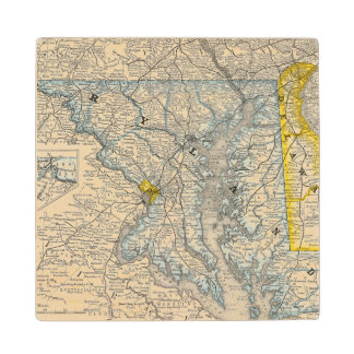 Maryland, DC, and Delaware Wood Coaster