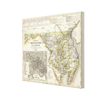 Maryland, Delaware Canvas Print