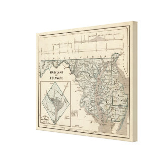 Maryland, Delaware, DC Canvas Print
