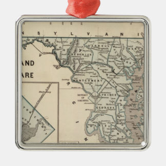 Maryland, Delaware, DC Christmas Ornament