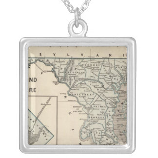Maryland, Delaware, DC Silver Plated Necklace