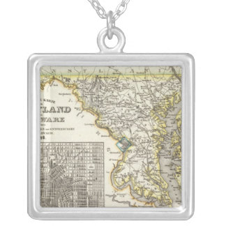 Maryland, Delaware Silver Plated Necklace