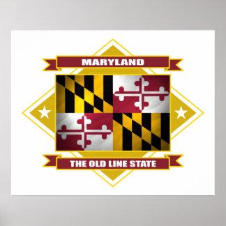 Maryland Diamond Poster