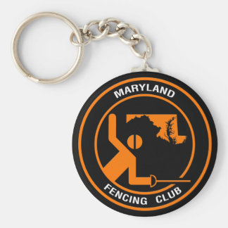 Maryland Fencing Club Basic Round Button Key Ring