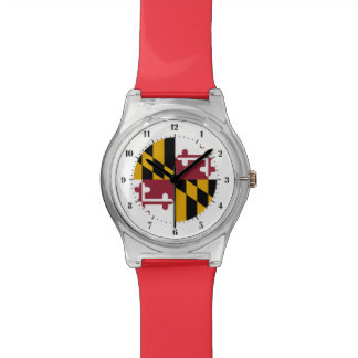 Maryland  flag, American state flag Watch