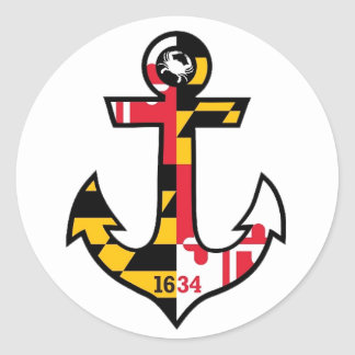 Maryland Flag Anchor Stickers