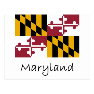 Maryland Flag And Name Postcard