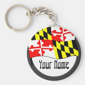 Maryland -  FLAG Basic Round Button Key Ring