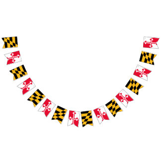 Maryland Flag Bunting Banner - Pennant Banner
