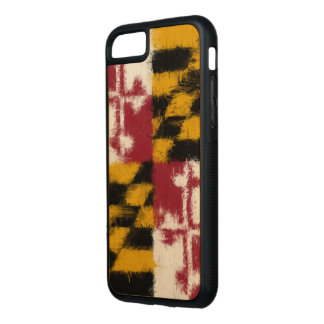 Maryland Flag Carved iPhone 7 Case