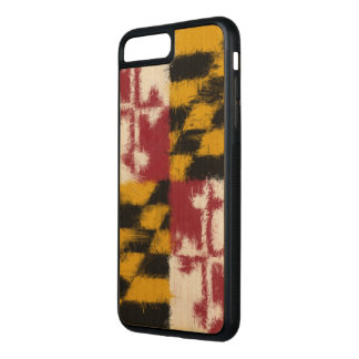 Maryland Flag Carved iPhone 7 Plus Case