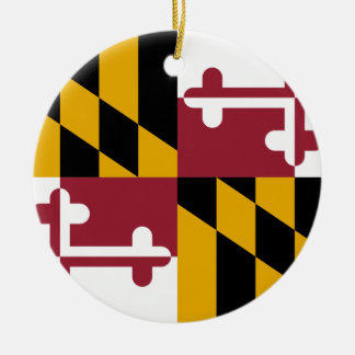 Maryland Flag Christmas Ornament