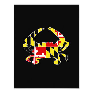 Maryland Flag Crab Invitation/Stationary Card