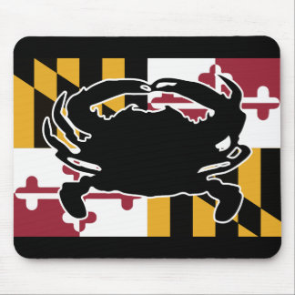 Maryland Flag/Crab mouse pad