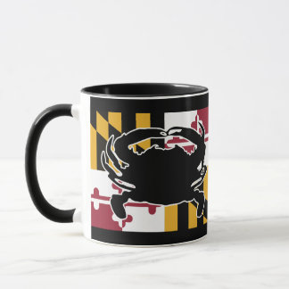 Maryland Flag/Crab mug