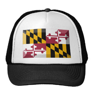 Maryland Flag Gem Trucker Hat