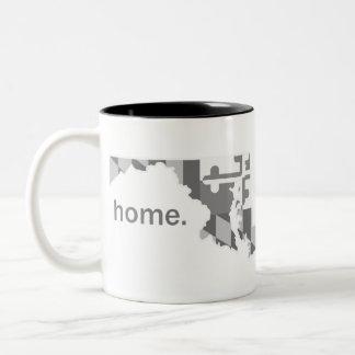 Maryland Flag greyscale home mug