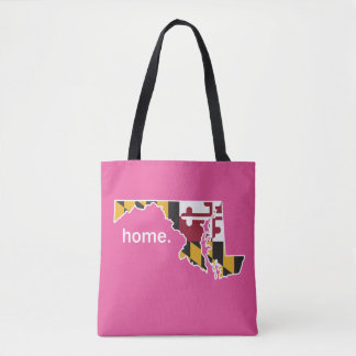 Maryland Flag home bag - pink