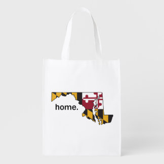 Maryland Flag home reusable bag