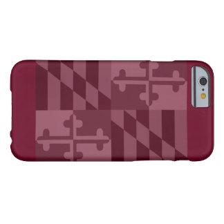 Maryland Flag (horizontal) phone case - burgandy