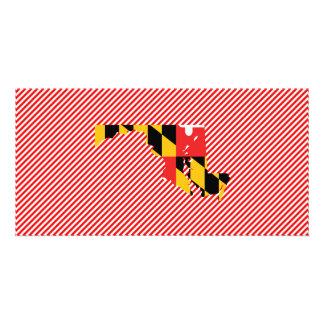 Maryland Flag Map Card