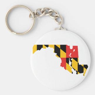 Maryland Flag Map Key Ring