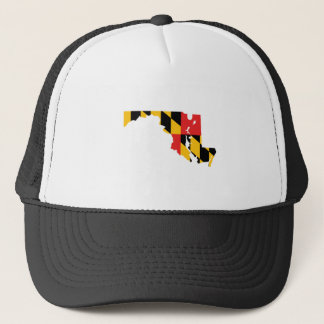 Maryland Flag Map Trucker Hat