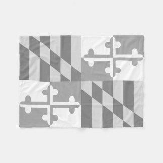 Maryland Flag Monochromatic blanket-*CUSTOMIZABLE* Fleece Blanket
