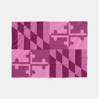 Maryland Flag Monochromatic blanket - hot pink