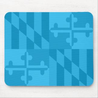 Maryland Flag Monochromatic mouse pad - blue