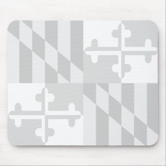 Maryland Flag Monochromatic mouse pad-CUSTOMIZABLE Mouse Mat