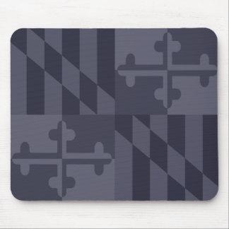 Maryland Flag Monochromatic mouse pad - navy blue
