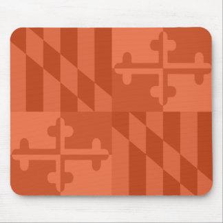 Maryland Flag Monochromatic mouse pad - orange