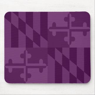 Maryland Flag Monochromatic mouse pad - plum