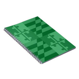 Maryland Flag Monochromatic note book - green
