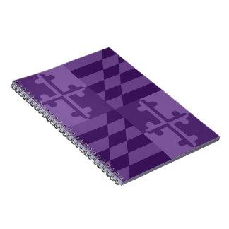 Maryland Flag Monochromatic note book - purple