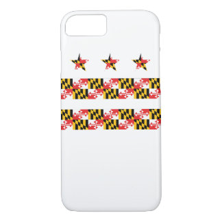 Maryland Flag on DC Flag iPhone Case